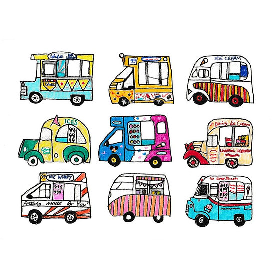 Ice Cream Vans Print