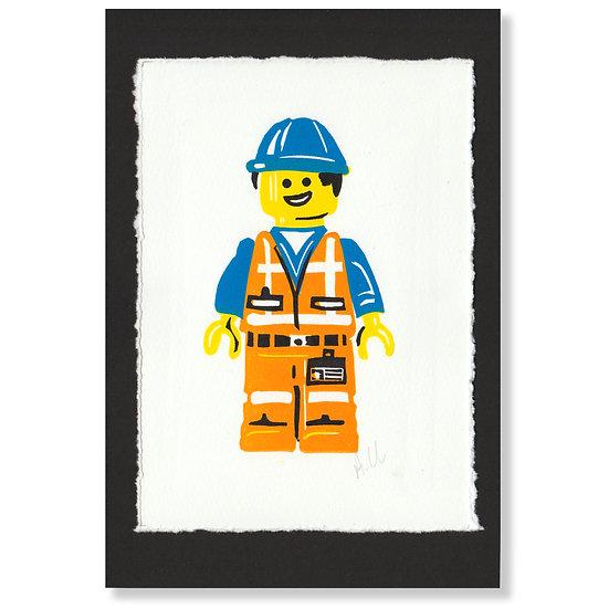 Construction Worker - Print