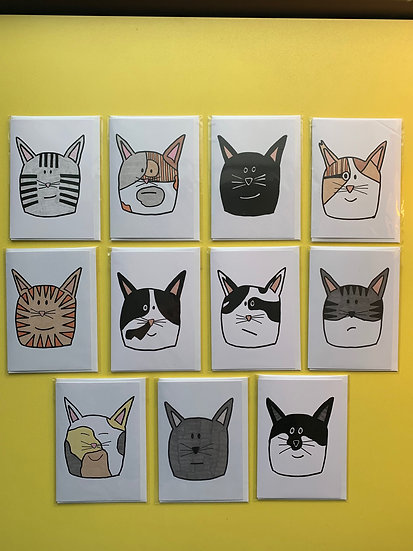 Cat Cards 4 for £10