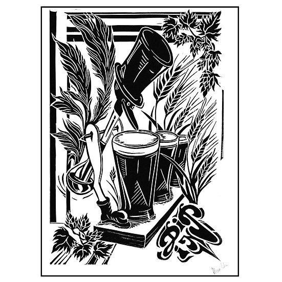 Dippy Bird Print - Black