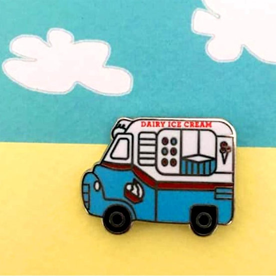 Ice Cream Van Enamel Badge