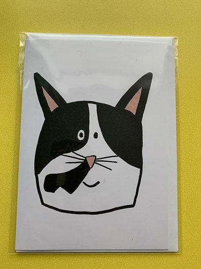 Cat Card - Biscuit