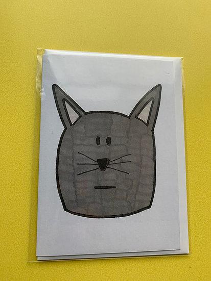 Cat Card -Dusk