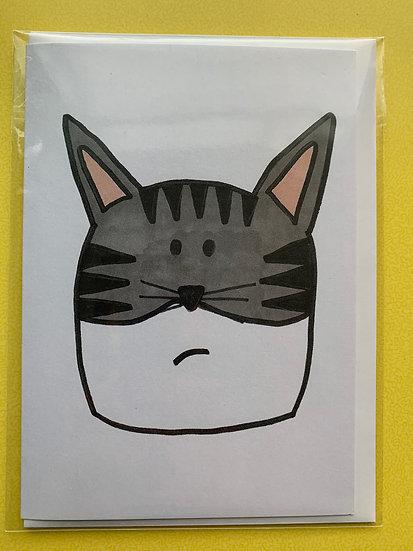 Cat Card -Luna