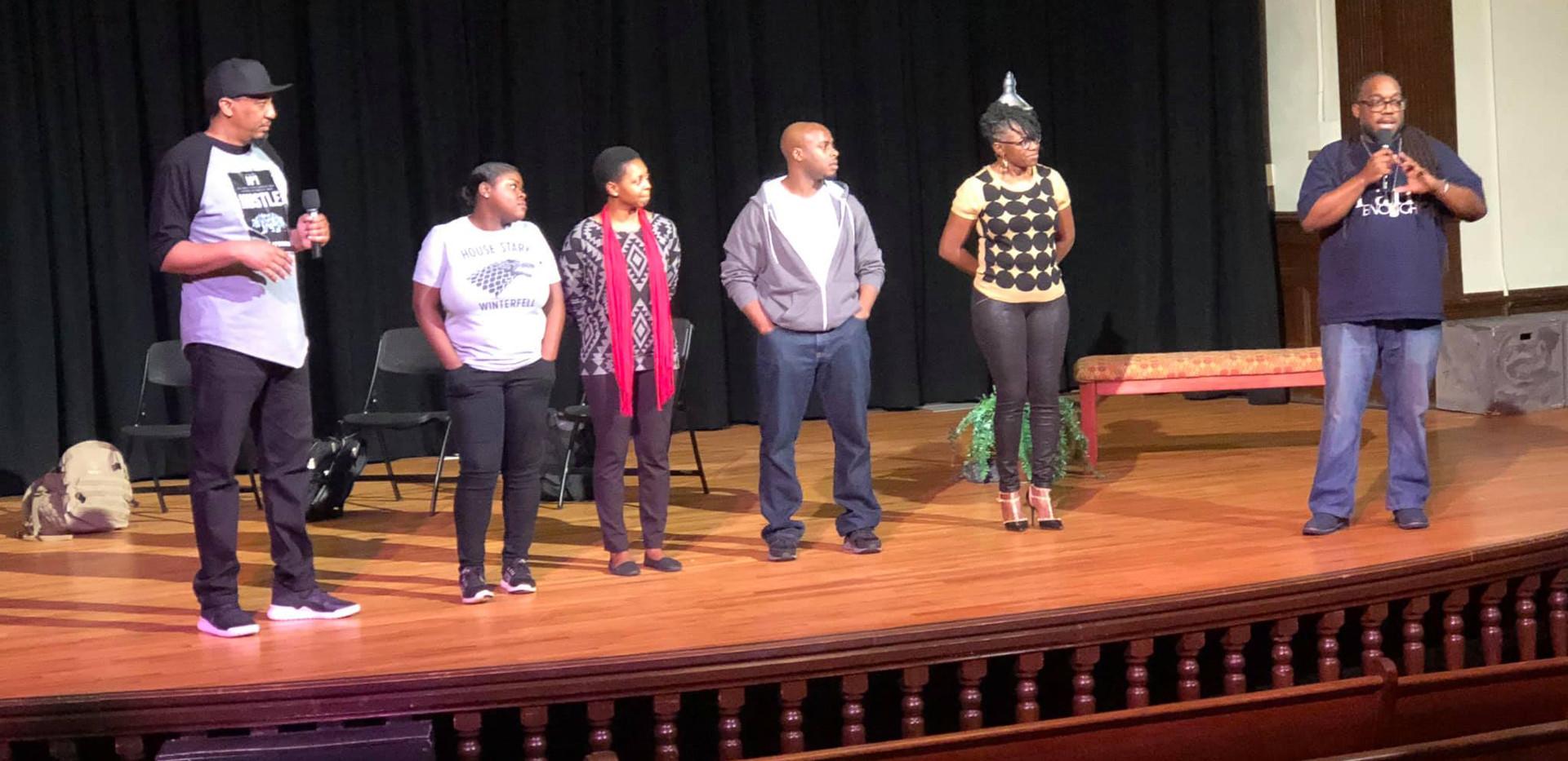DOAH cast at the Hayti
