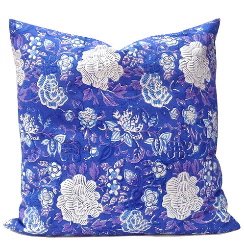 MING ON BLUE CUSHION COVER
