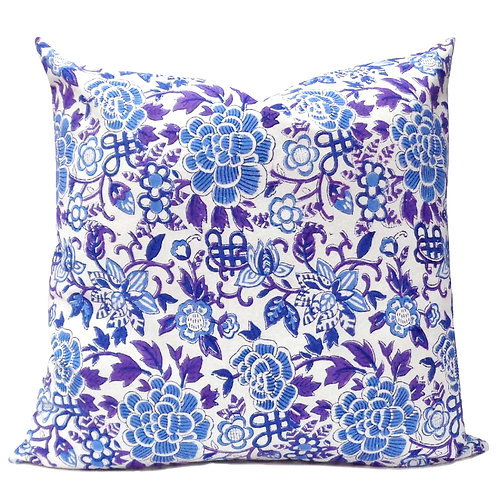 MING ON WHITE CUSHION COVER
