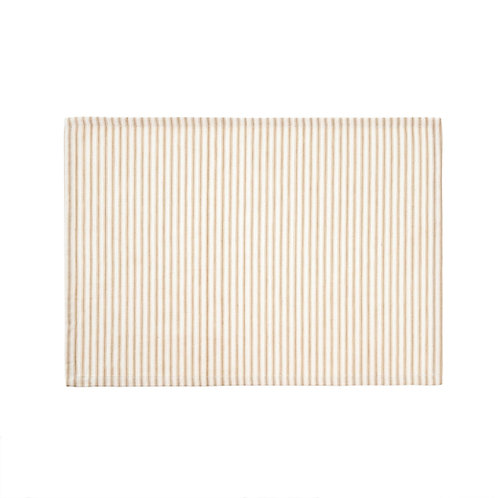 FRENCH TICKING BEIGE PLACEMAT S/4
