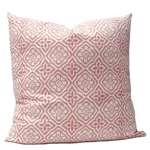 PINK GEO CUSHION COVER