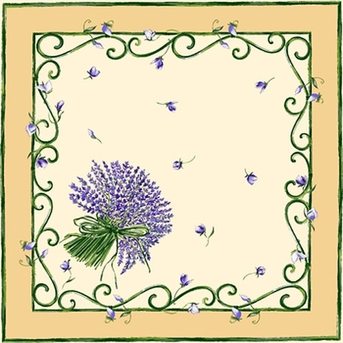 LAVENDER BUNCH CREAM NAPKIN SET (4)