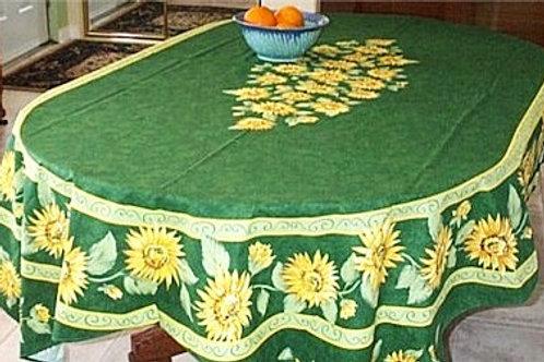 SUNFLOWER GREEN cotton OVAL