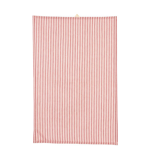 FRENCH TICKING KITCHEN TOWEL RED