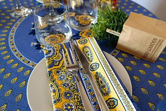 Provencal tablecloth and napkins