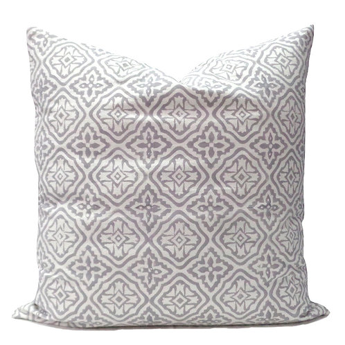 GREY GEO CUSHION COVER