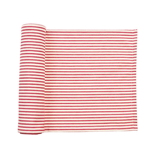 FRENCH TICKING RUNNER RED