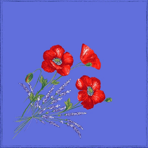 POPPIES BLUE NAPKIN SET (4)
