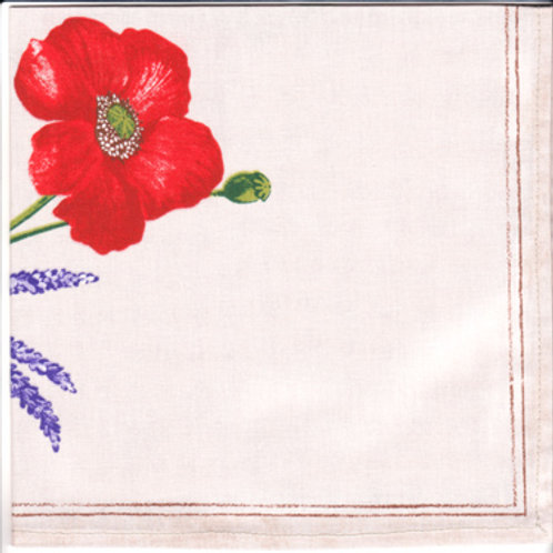 POPPIES TAUPE NAPKIN SET (4)