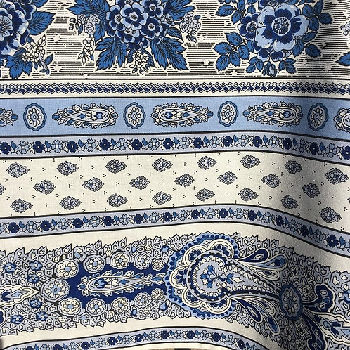 Bastide WHITE/BLUE BORDER coated