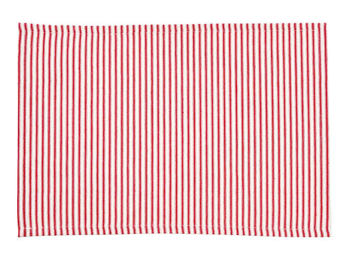 FRENCH TICKING RED PLACEMAT S/4