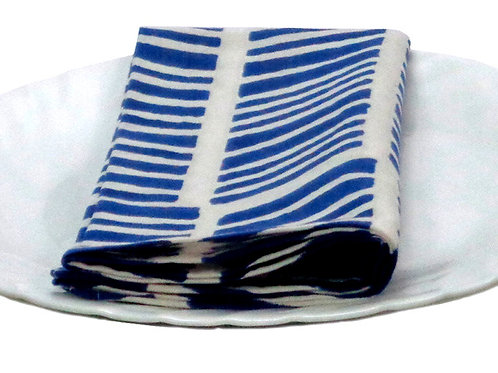CHEVRON BLUE NAPKIN  SET(2)