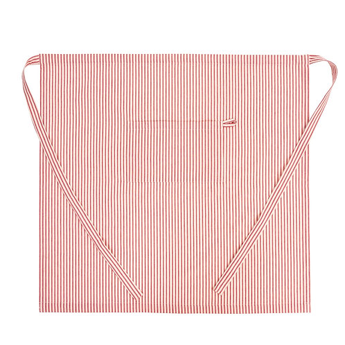 FRENCH TICKING APRON RED