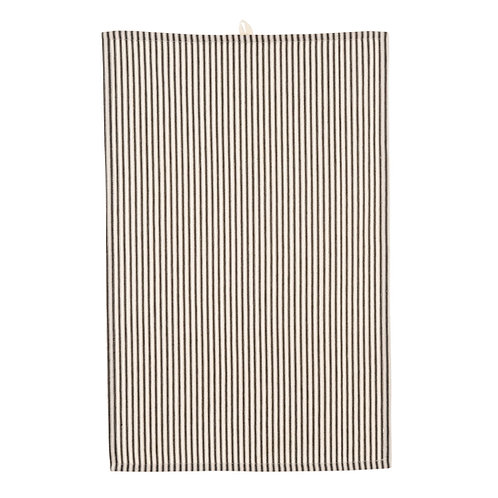 FRENCH TICKING KITCHEN TOWEL BLACK