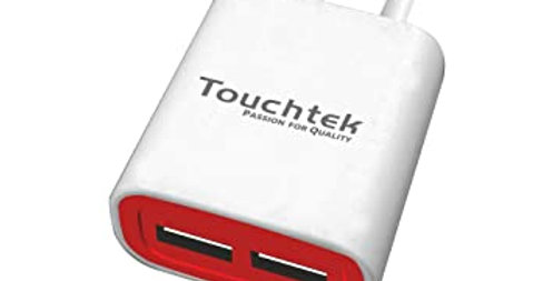 Touchtek QC-4 2.4 A Mobile Charger with Detachable Cable  (White)