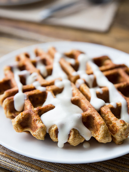 Sourdough carrot cake waffles x 2 unidades