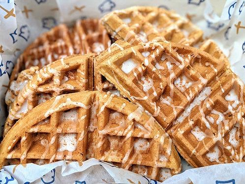 Sourdough Cinnamon Waffles with sugar glaze x 2 unidades