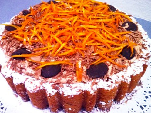 Orange Chocolate Mousse Cake