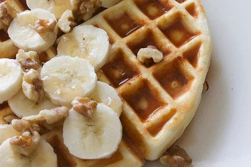 Sourdough walnut banana bread waffles x 2 unidades
