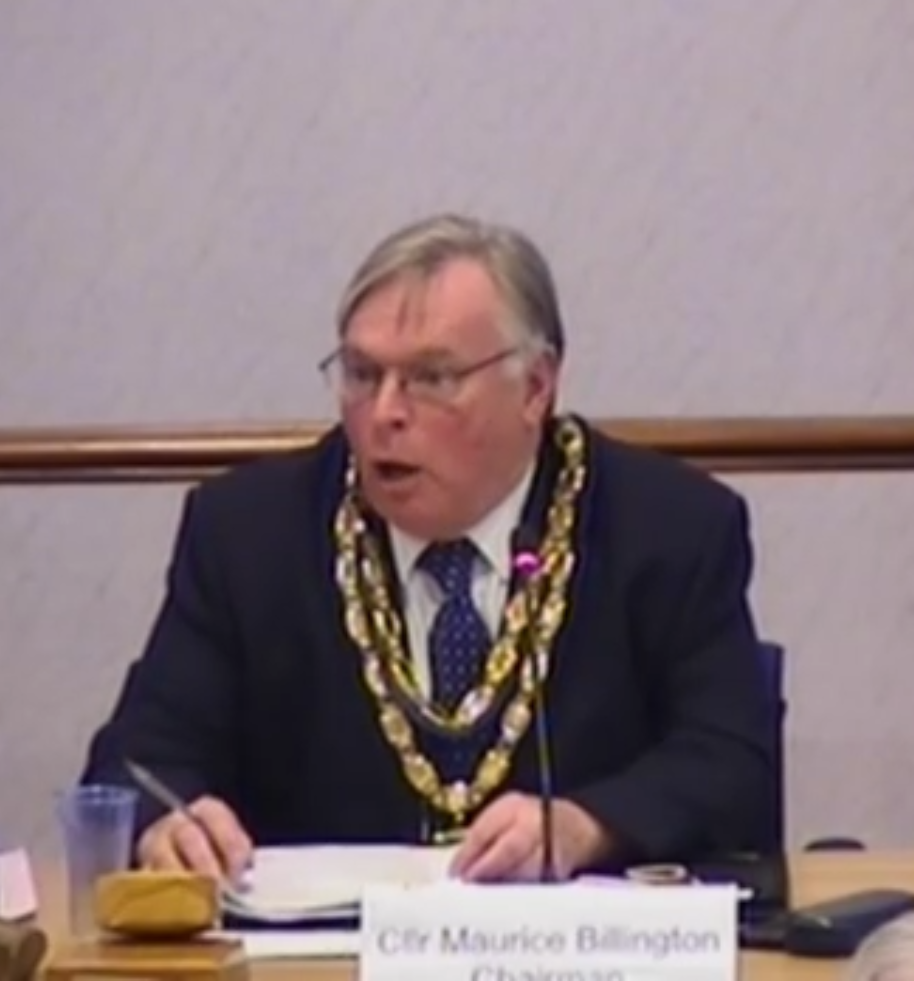 Councillor Billington cannot contain his shock at the number of councillors voting in favour of the Plan