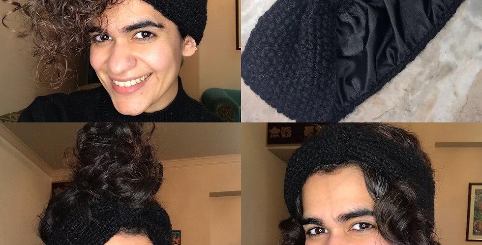 Satin Lined Knit Headband