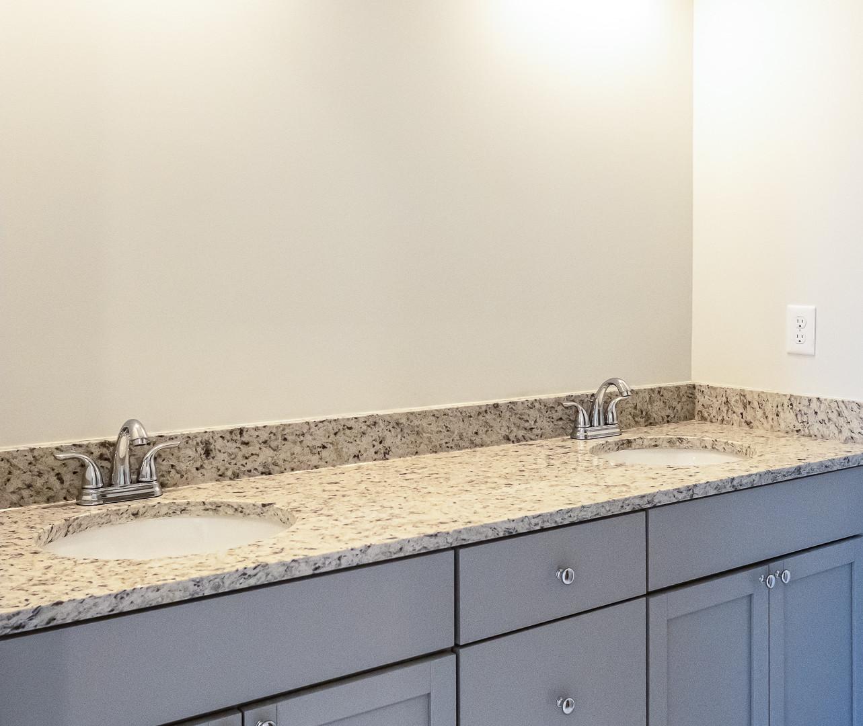 Main Level Master Bathroom Double Vanity