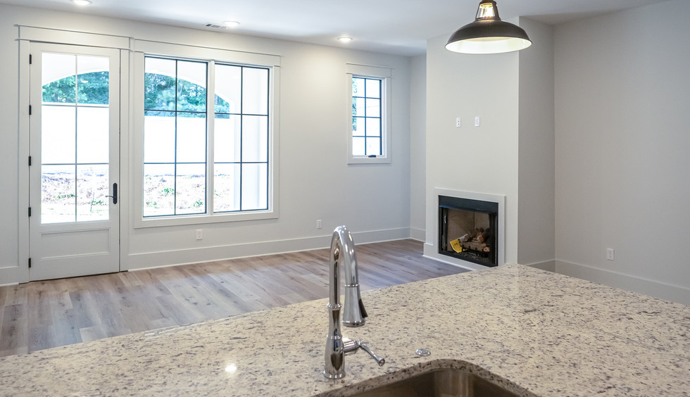 Kitchen to Living Room with Fireplace Vi