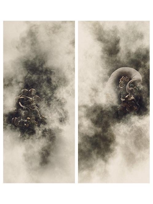 「風神雷神」オリジナルプリント 掛け軸装 ed:03