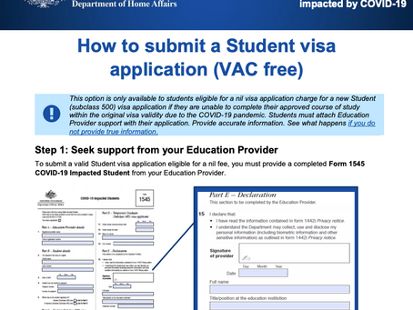 COVID-19 - Estudantes já podem solicitar isenção da taxa de visto