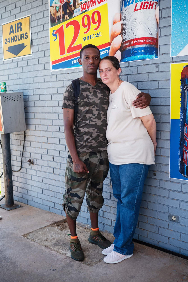 Couple in Gas Station, Westminster, South Carolina