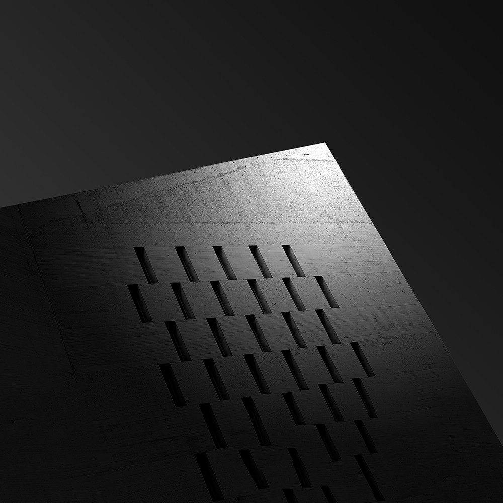 """detail of a modern building based on the creative use of cast light in a fine art image. Inspired by the futuristic cityscapes of the film """"Blade Runner"""""""