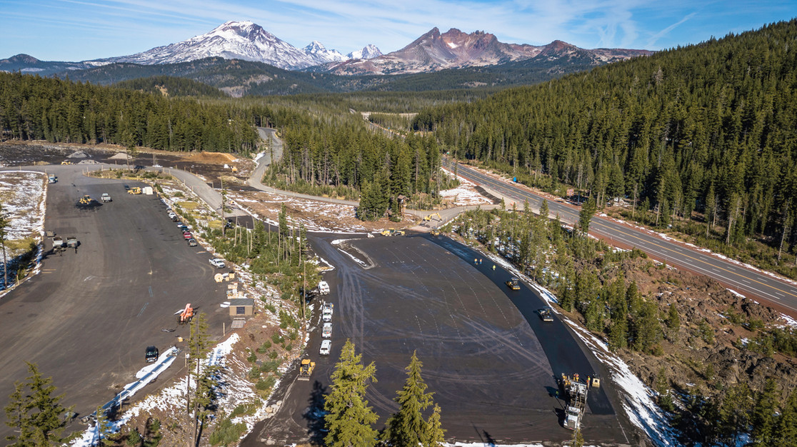 Mt. Bachelor's aerial footage of new parking lot expansion