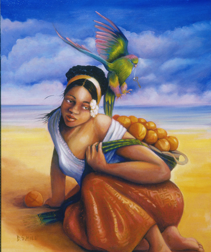 """BEACH BIRD & ORANGE"""
