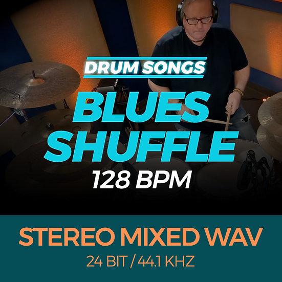 DRUM SONG Blues Shuffle 128bpm STEREO MIXED WAV
