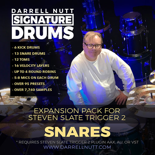DN Signature Drums - SNARES for SLATE TRIGGER 2