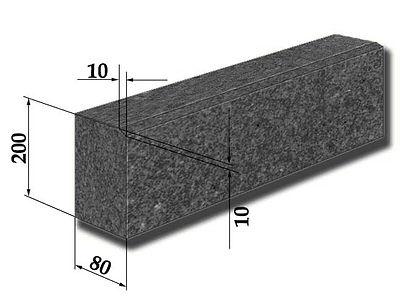 Бордюр гранітний ГП-5