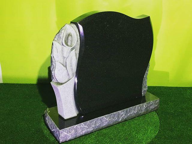 Памятник из #габбро. Cemetry monuments