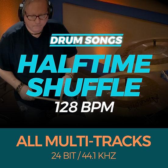 DRUM SONGS Halftime Shuffle 128bpm MULTI-TRACK WAV