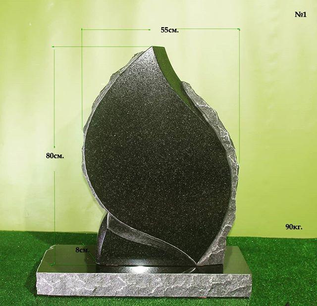 Cemetery monument. Памятник из габбро. .