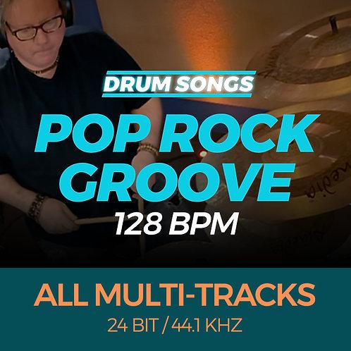 Pop Rock Groove DRUM SONGS 128 bpm MULTI-TRACK WAVS