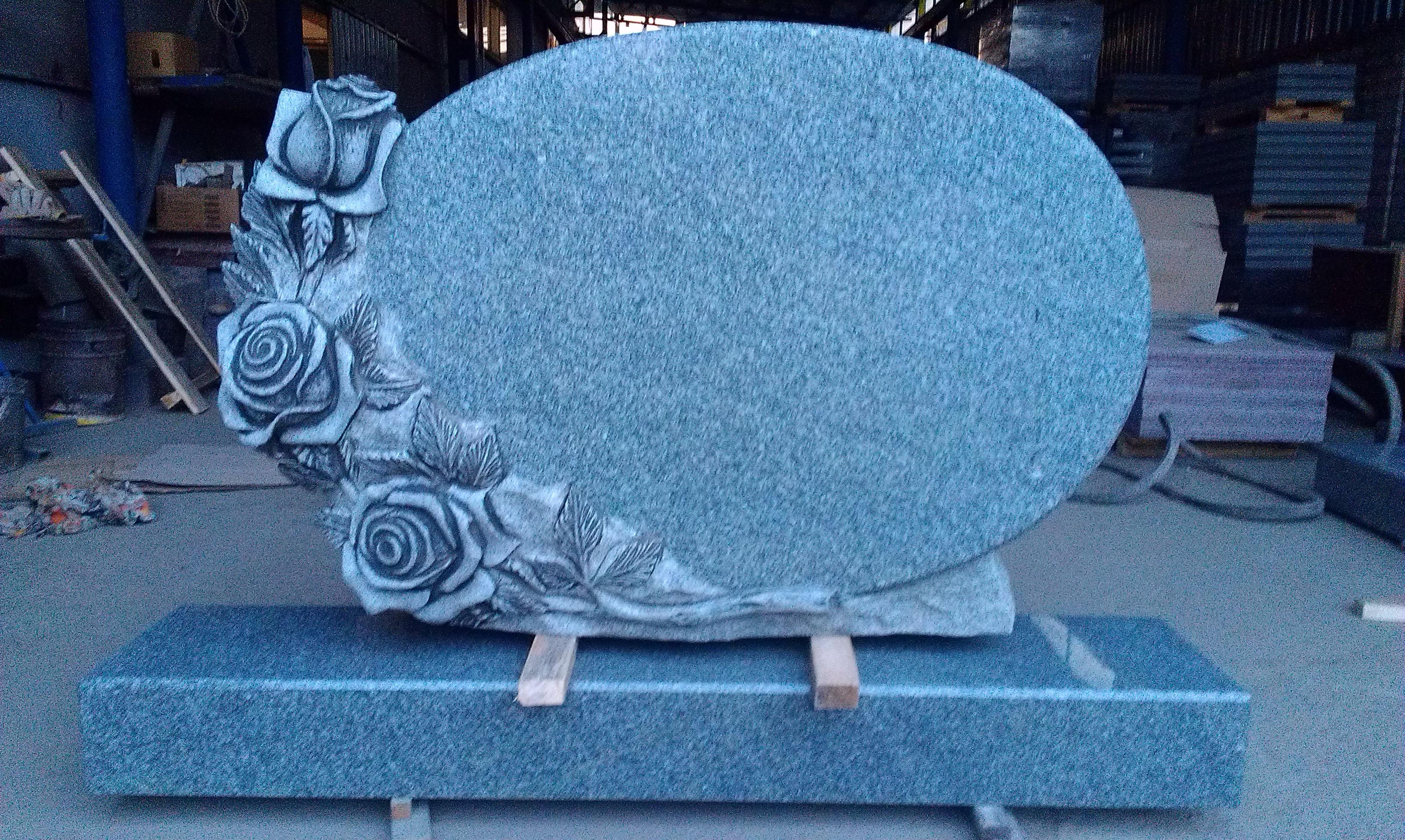 Granite roses. Gray granite.