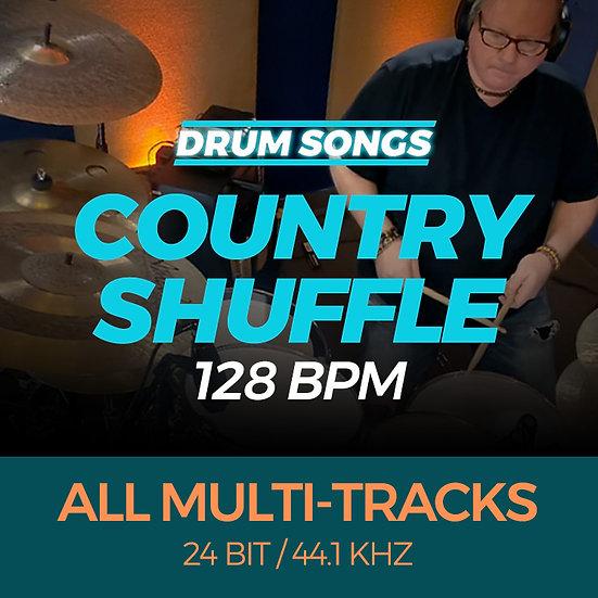 DRUM SONGS Country Shuffle 128bpm MULTI-TRACK WAV